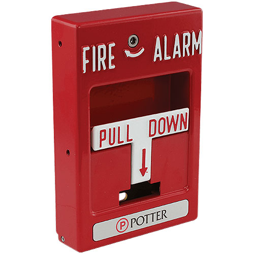 Wthrprf Dual Action Red Pull Station Fire Alarm