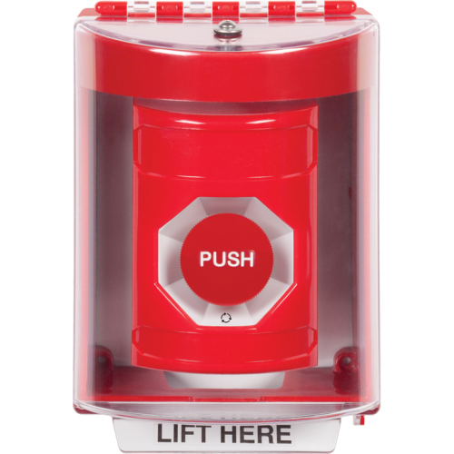 Safety Technology Red Turn To Reset Stopper Station