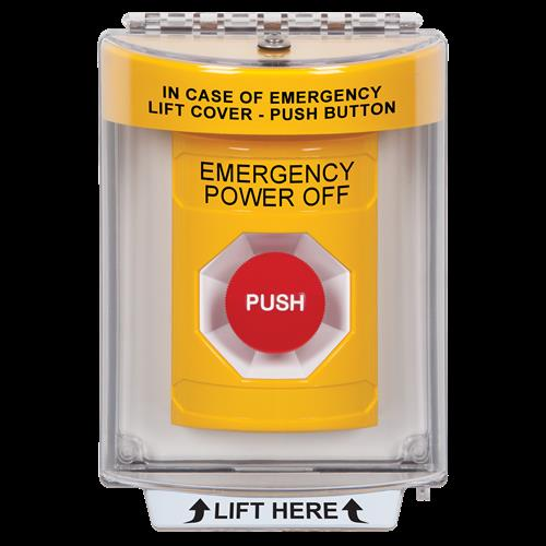 Safety Technology Yellow Momentary Stopper Station Flush Mount Unive