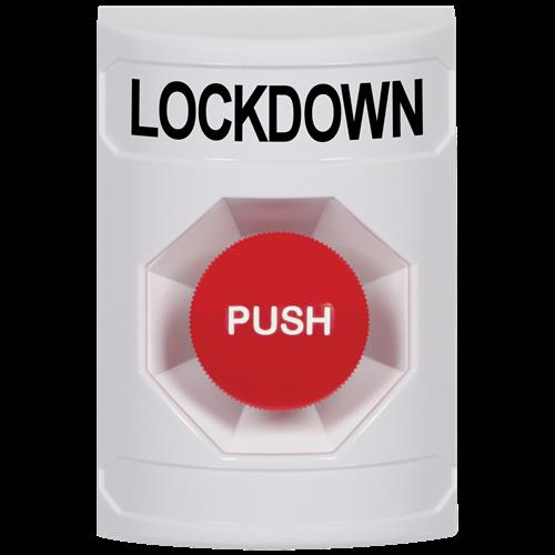 Safety Technology White Bttn, No Cover, Momentary Switch, Lockdown-Eng