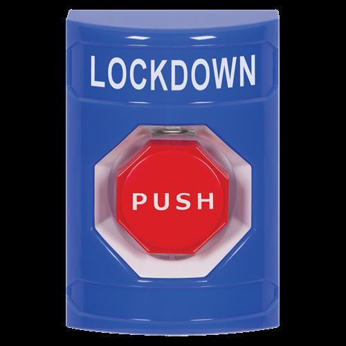 Safety Technology Blue Illum Key To Reset Stopstation W/No Cvr, Lckdw