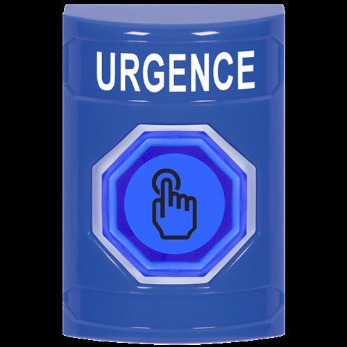 Safety Technology Blue Weather Resistant Illum Momentary Ss NO Cvr