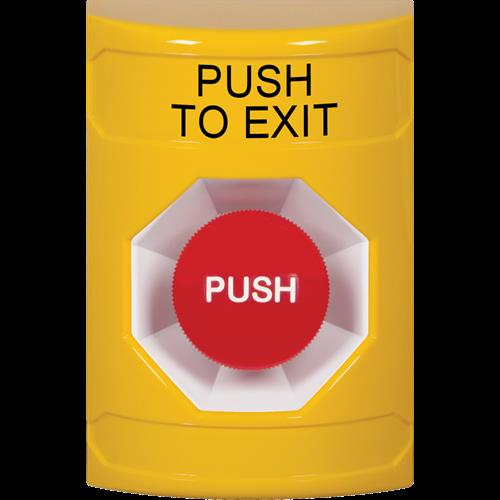 Safety Technology Ylw Momentary Stpr St-No Cover Push To Exit