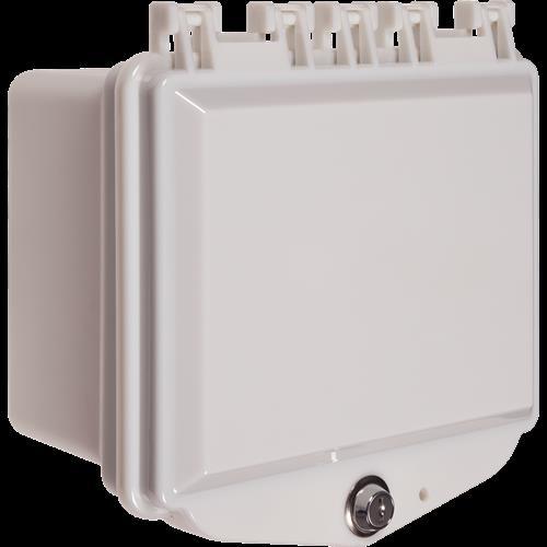 Safety Technology Polycarbonate Enc, Enclosed Deep Bkbox Keylk White
