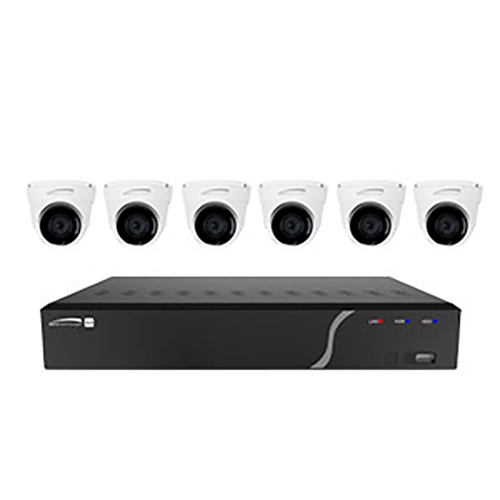 Speco ZIPK8T2 8-Channel H.265 NVR with 6 Outdoor IR 5MP IP Cameras, 2TB- KIT 2.8mm Fixed Lens