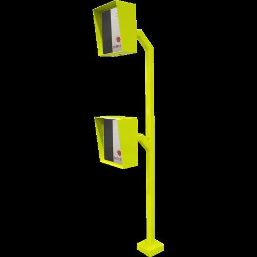 Gooseneck Pedestal Mnt Cars & Trcks Yellow